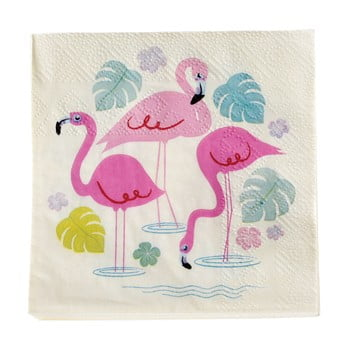 Set 20 șervețele din hârtie Rex London Flamingo Bay poza bonami.ro