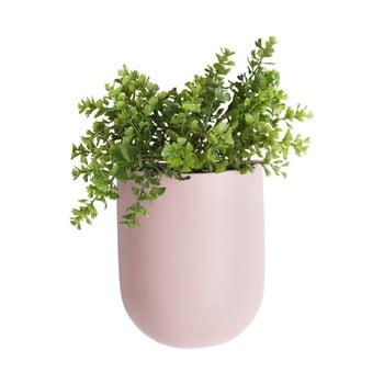 Ghiveci suspendat din ceramică PT LIVING Oval, roz deschis bonami.ro