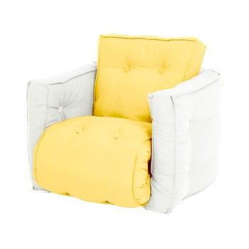 Fotoliu extensibil pentru copii Karup Design Mini Dice Yellow/Creamy imagine