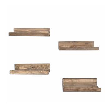 Set 4 rafturi din lemn pentru perete Arena imagine