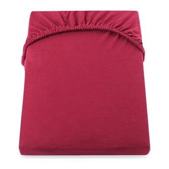 Cearșaf de pat cu elastic DecoKing Nephrite, 180–200 cm, roșu bonami.ro