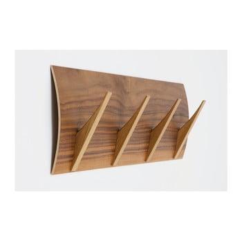 Cuier de perete din lemn masiv Woodman Rack Naki Walnut Large