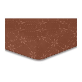 Cearșaf cu elastic, din microfibră DecoKing Hypnosis Snowynight, 200 x 220 cm, maro poza bonami.ro