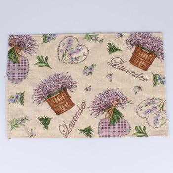Suport textil pentru farfurie Dakls Easter Deco Levander, 48 x 33 cm poza bonami.ro