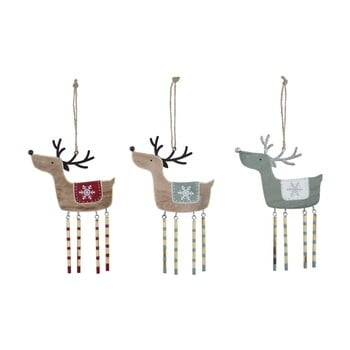 Set 3 decorațiuni suspendate pentru bradul de Crăciun Ego Dekor Misto Reindeers bonami.ro