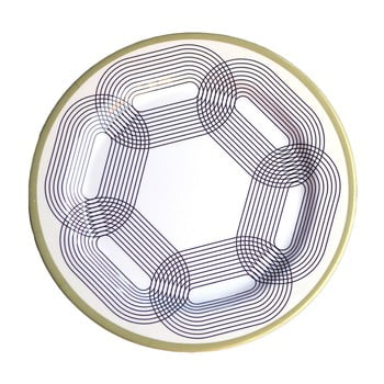 Set 6 farfurii din melamina Sunvibes Maillon Beige, diametru 25 cm