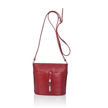 Geantă din piele Markese Calf Mini, roșu bonami.ro
