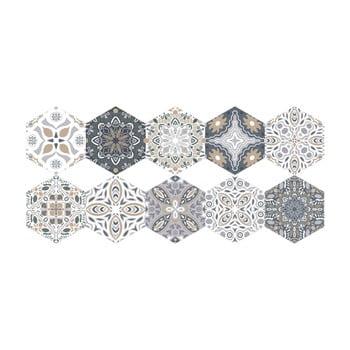 Set 10 autocolante de podea Ambiance Hexagons Emiliana, 40 x 90 cm bonami.ro