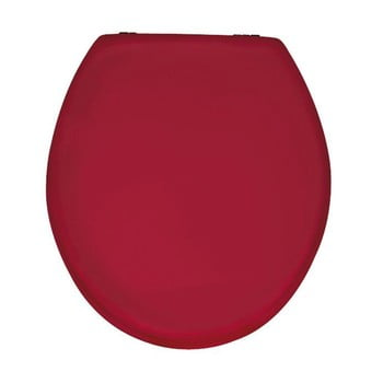 Capac WC din lemn Capac WC Wenko Prima, 41 x 38 cm, roşu lucios bonami.ro