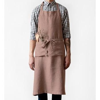 Șorț din in Linen Tales Chef, lungime 100cm, mov șters bonami.ro