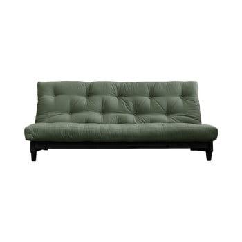 Canapea elegantă, extensibilă Karup Design Fresh Black, verde bonami.ro