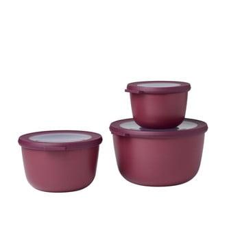 Set 3 cutii pentru gustări Rosti Mepal Cirqula Nordic, roșu închis poza bonami.ro