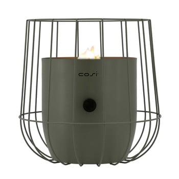 Lampă cu gaz Cosi Basket, înălțime 31 cm, verde olive