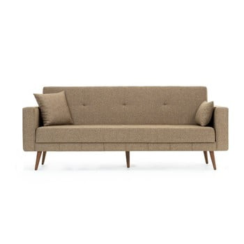 Canapea extensibilă Balcab Home Ivonne, bej închis poza bonami.ro