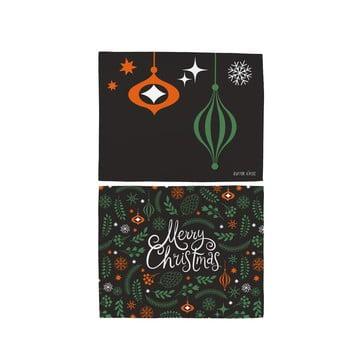 Set 2 șervețele din bumbac cu motive de Crăciun Butter Kings Very Merry Christmas, 45 x 35 cm bonami.ro