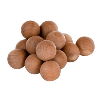Set 15 bile din lemn de cedru Premier Housewares Cedar Balls poza bonami.ro