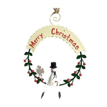 Decorațiune suspendată pentru Crăciun G-Bork Snowman poza bonami.ro