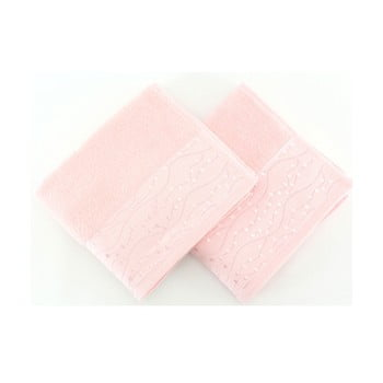Set 2 prosoape din bumbac pur Tomuruk, 50 x 90 cm, roz poza bonami.ro