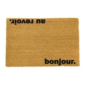 Covoraș intrare din fibre de cocos Artsy Doormats Bonjour Au Revoir, 40 x 60 cm bonami.ro