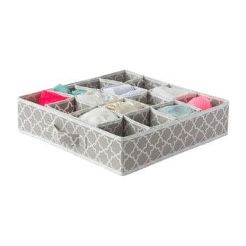 Organizator cu 16 compartimente pentru sertare Compactor, 40 x 40 cm, bej bonami.ro