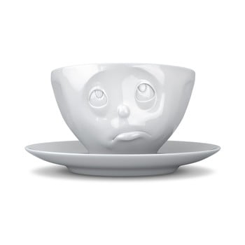 Ceașcă din porțelan pentru cafea 58products Oh please, 200 ml, alb bonami.ro