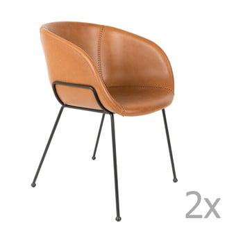 Set 2 scaune Zuiver Feston, maro bonami.ro