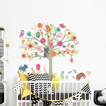 Set autocolante de perete pentru camera copiilor Ambiance Scandinavian Tree bonami.ro