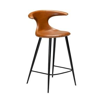 Scaun bar din piele ecologică DAN–FORM Denmark Flair, maro coniac, înălțime 90 cm bonami.ro