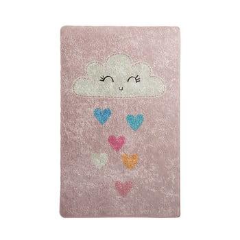 Covor antiderapant pentru copii Chilai Baby Cloud,140x190cm, roz bonami.ro