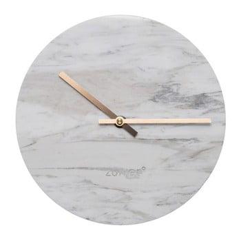 Ceas de perete din marmură Zuiver Marble Time, alb bonami.ro
