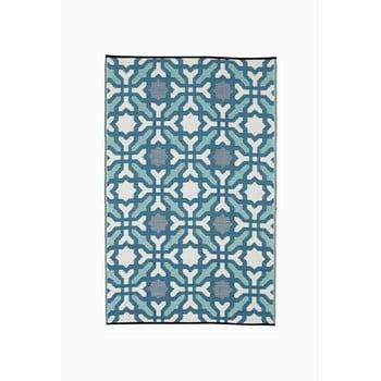 Covor reversibil pentru exterior din plastic reciclat Fab Hab Seville, 150 x 240 cm, albastru - gri poza bonami.ro