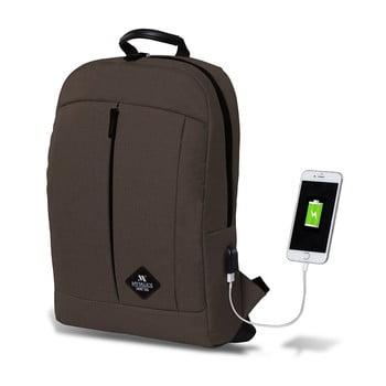 Rucsac cu port USB My Valice GALAXY Smart Bag, maro închis bonami.ro