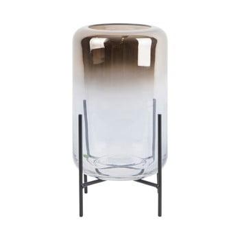 Vază din sticlă PT LIVING Silver Fade, înălțime 23,5 cm poza bonami.ro