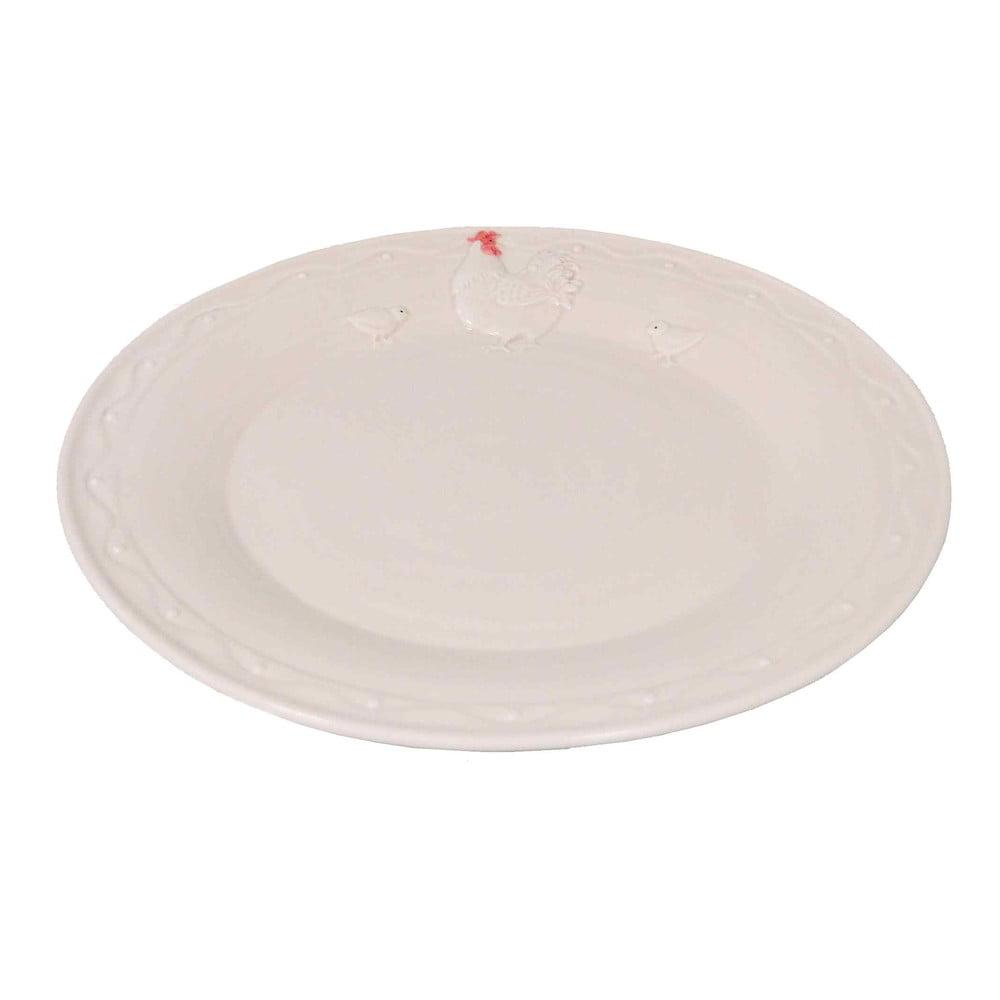 Farfurie din ceramică Antic Line Hen, ⌀ 25 cm, alb