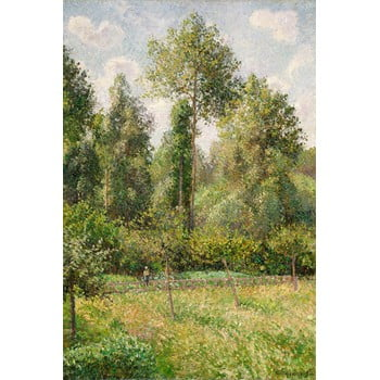 Reproducere tablou Camille Pissarro - Poplars Éragny, 60 x 80 cm bonami.ro