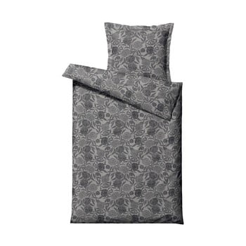 Lenjerie de pat din bumbac satinat pentru pat single Södahl Tapestry,140x220cm, gri imagine