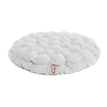 Pernă relaxare cu bile de masaj Linda Vrňáková Bloom, Ø 65 cm, alb imagine