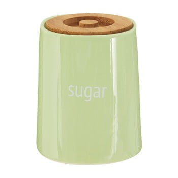 Recipient pentru zahăr cu capac din lemn de bambus Premier Housewares Fletcher, 800 ml, verde poza bonami.ro