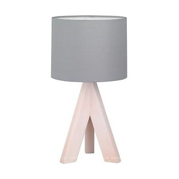Veioză din lemn și pânză Trio Ging, înălțime 31 cm, gri bonami.ro