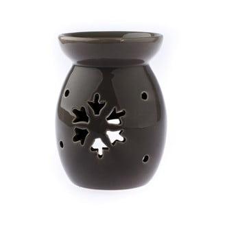 Lampă aromaterapie din ceramică cu model de fulg de nea Dakls, maro bonami.ro