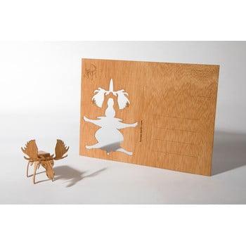 Carte poștală din lemn Formes Berlin Los, 14,8 x 10,5 cm poza bonami.ro