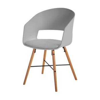 Scaun cu picioare din lemn de fag Interstil Luna, gri poza bonami.ro