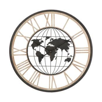Ceas de perete Mauro Ferretti World, ø70cm, negru bonami.ro