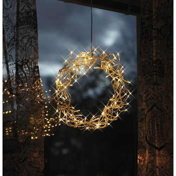 Coroniță luminoasă cu LED Best Season Curly, ⌀ 30 cm bonami.ro