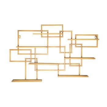 Suport de perete auriu, pentru sticle Mauro Ferretti Diodoro, 80 x 50 cm bonami.ro