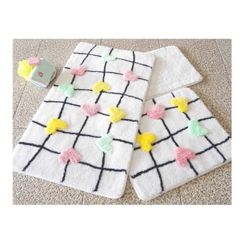 Set 3 covorase de baie Confetti Bathmats Hearts