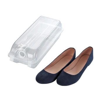 Cutie transparentă pentru depozitarea pantofilor Wenko Smart, lățime 14 cm poza bonami.ro