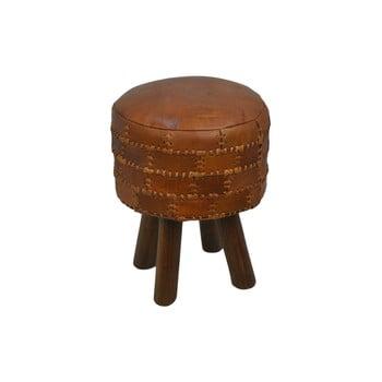 Scaun din piele de bovină HSM collection Art of Nature Vintage Cognac, ⌀ 33 cm bonami.ro