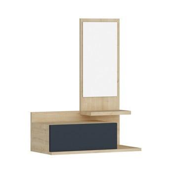 Raft de perete cu sertar și oglindă Arnetti Rozella poza bonami.ro