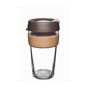 Cană de voiaj cu capac KeepCup Brew Cork Edition Almond, 454 ml poza bonami.ro